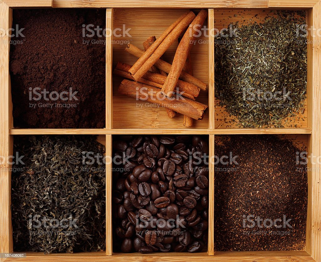 coffee and tea royalty-free stock photo