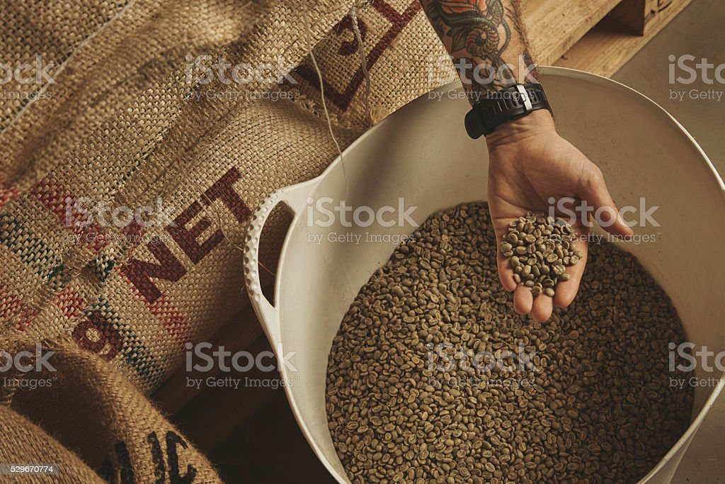 Coffee and tea retailing business stock photo