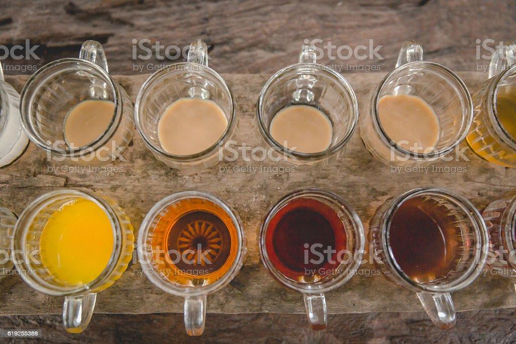 Coffee and tea tasting stock photo