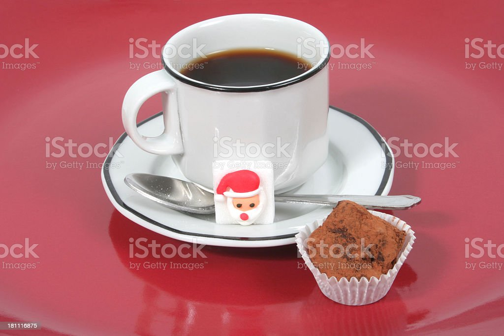 Coffee and truffle stock photo