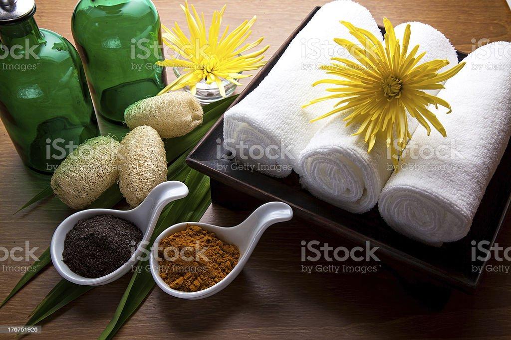 Coffee and Turmeric Scrub stock photo