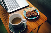 Coffee and work from home