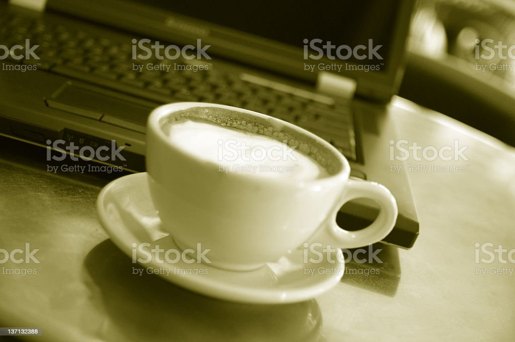 Coffee and work royalty-free stock photo