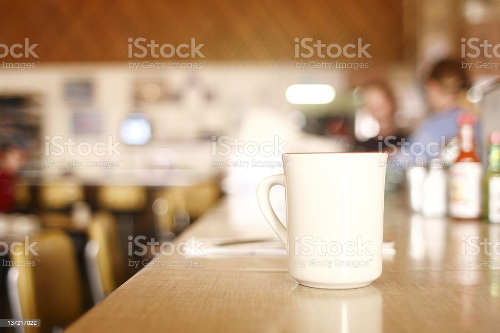 Coffee at diner stock photo