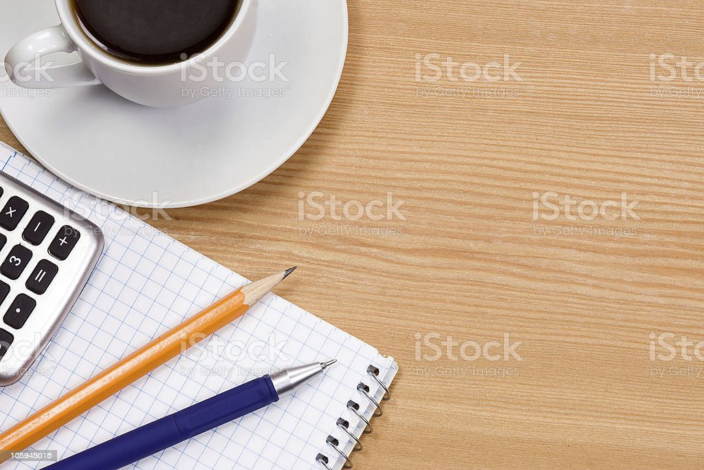 coffee at table royalty-free stock photo