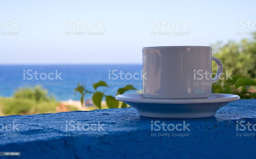 Coffee at the Beach royalty-free stock photo