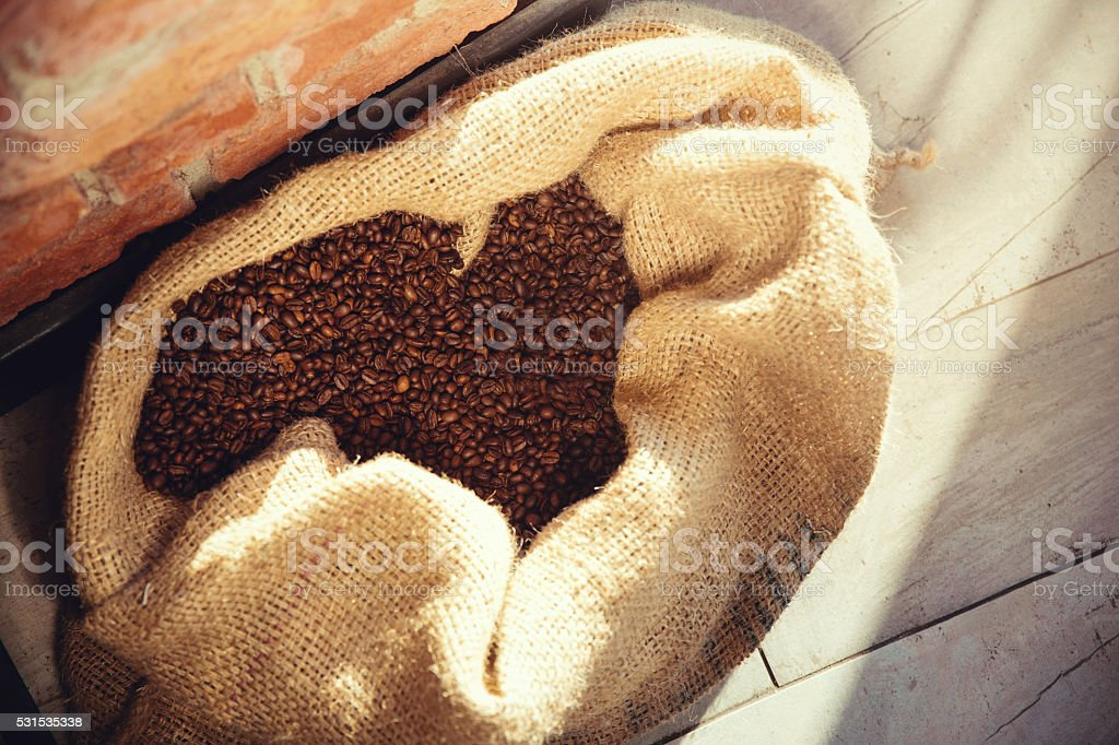 coffee bag 2 stock photo