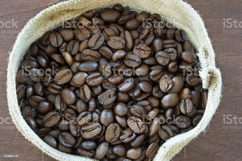 coffee bag royalty-free stock photo