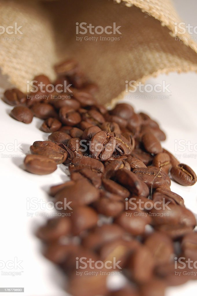 Coffee Bean and Sack 04 royalty-free stock photo