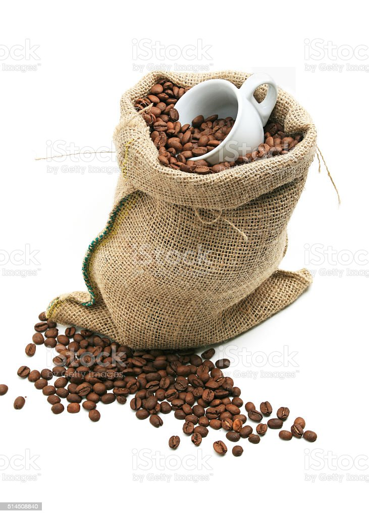 Coffee Bean Bag stock photo