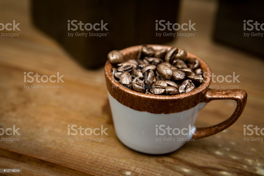 Coffee Bean Cup vector art illustration