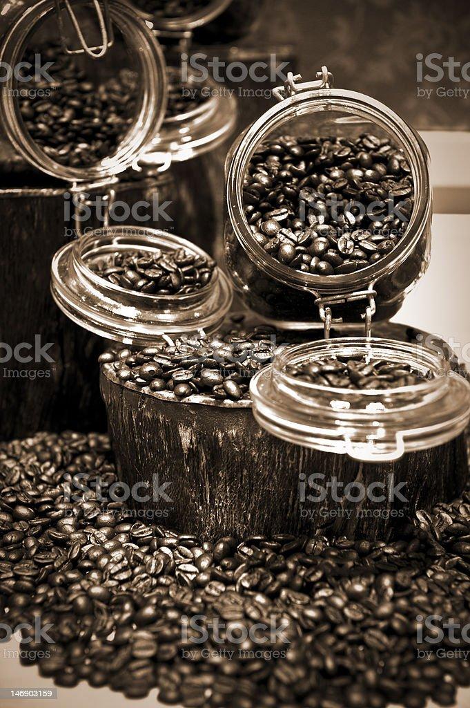 Coffee Bean Display royalty-free stock photo