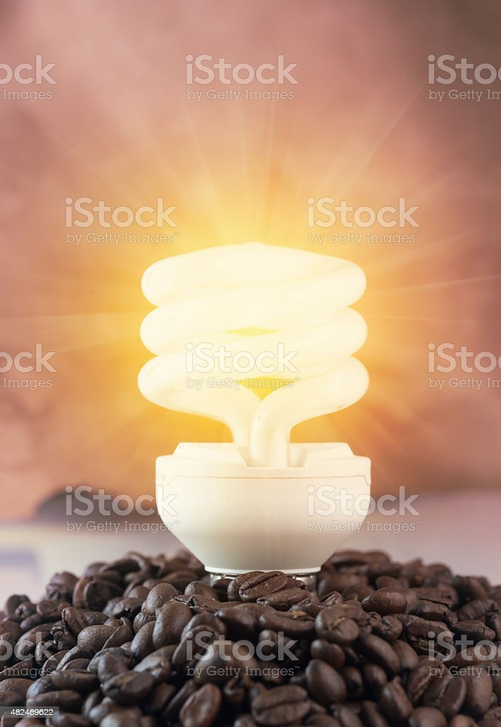 coffee bean give energy stock photo