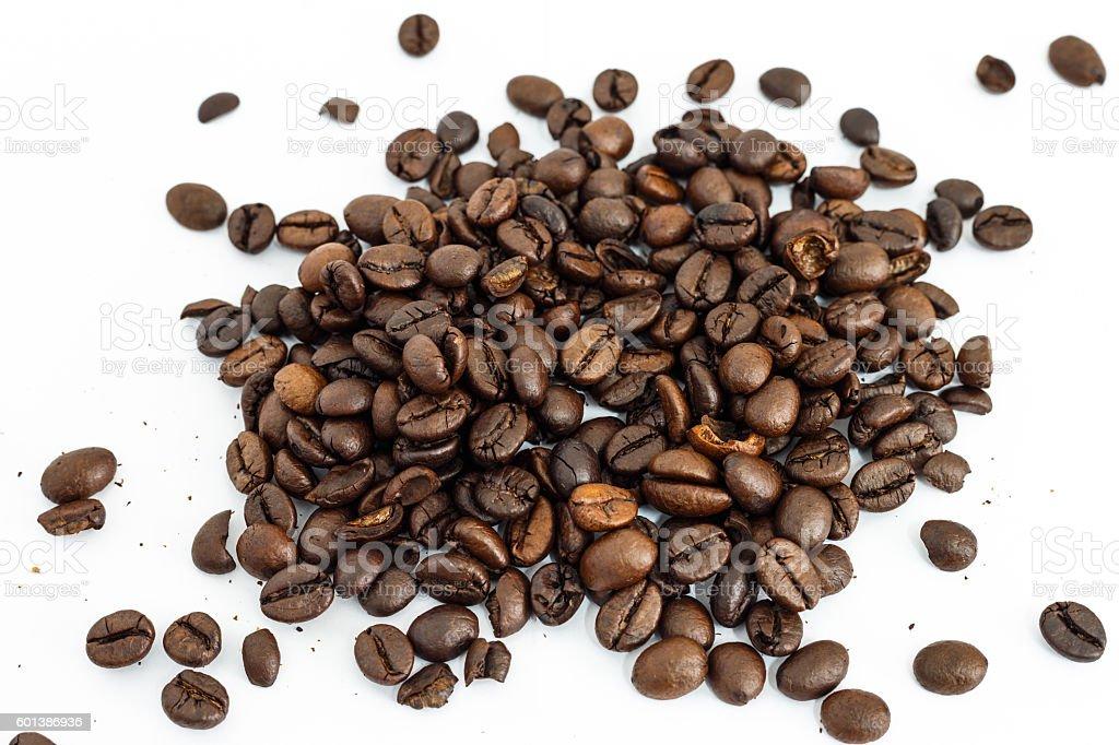 coffee bean on white background stock photo