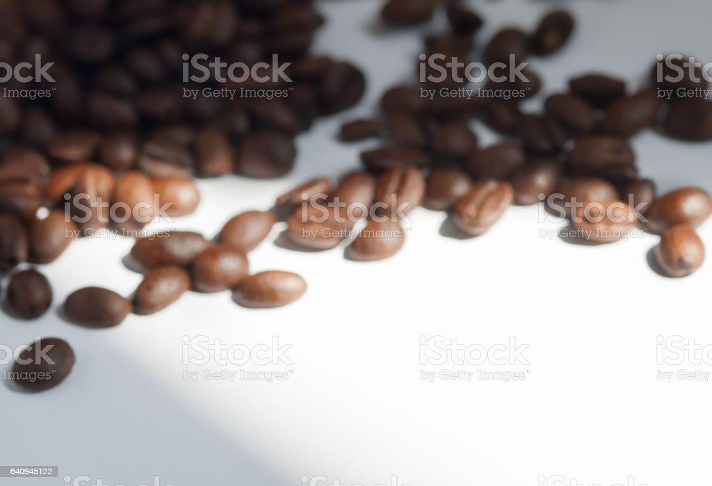 Coffee bean on white paper book stock photo