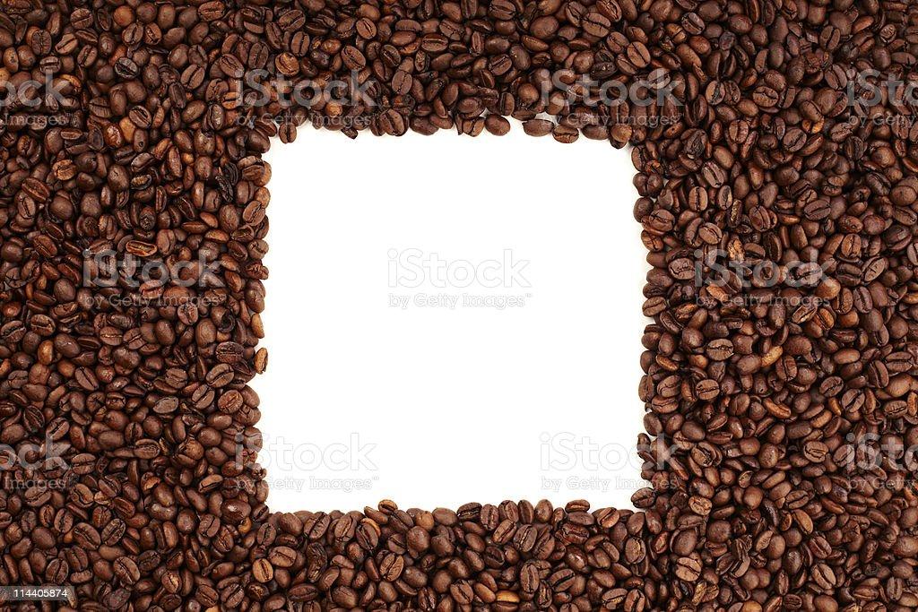 Coffee bean square royalty-free stock photo
