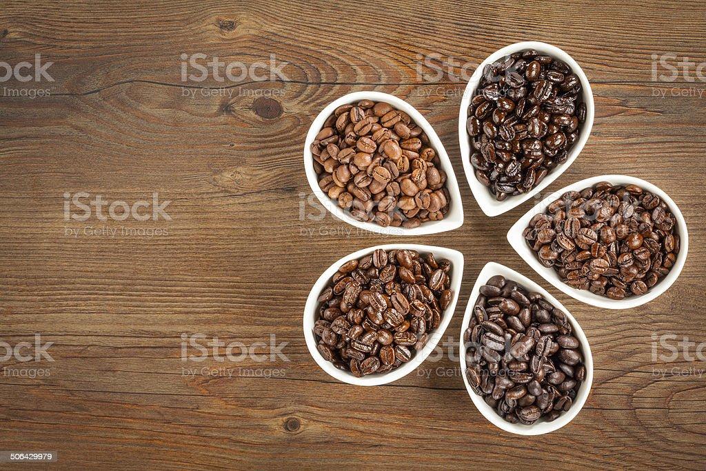 Coffee Bean Varieties stock photo