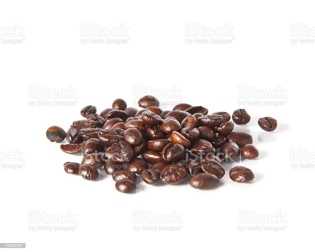 Coffee Bean with white background royalty-free stock photo