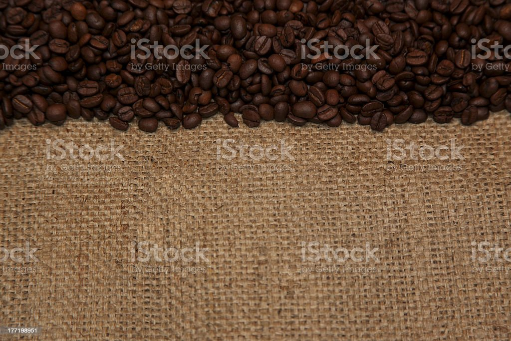 Coffee Beans and Burlap royalty-free stock photo