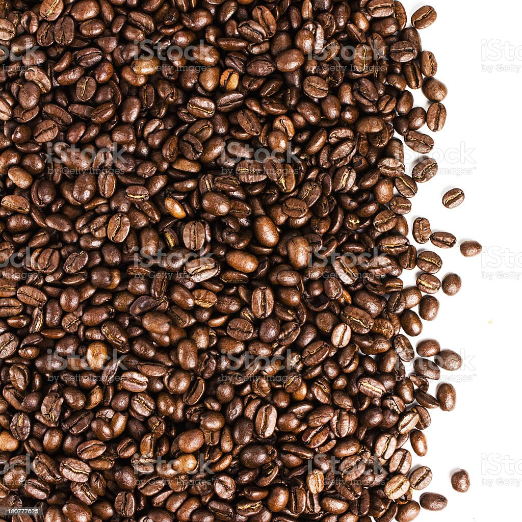 Coffee beans  background or texture closeup. royalty-free stock photo