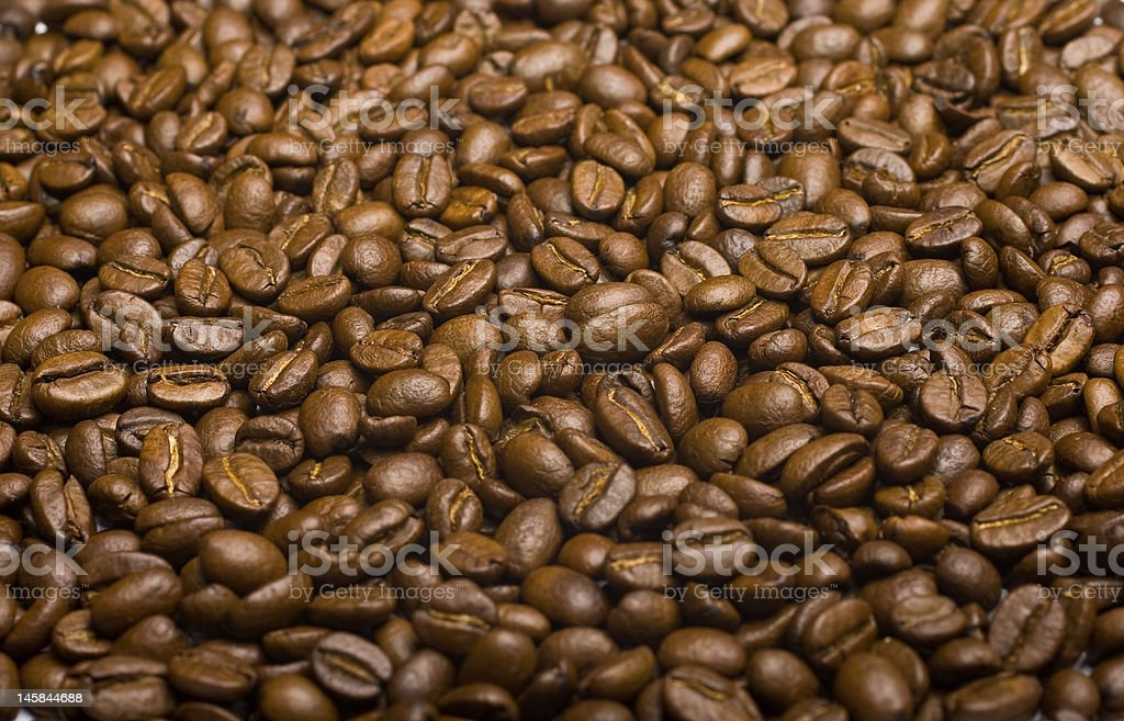 Coffee beans background (close-up) royalty-free stock photo
