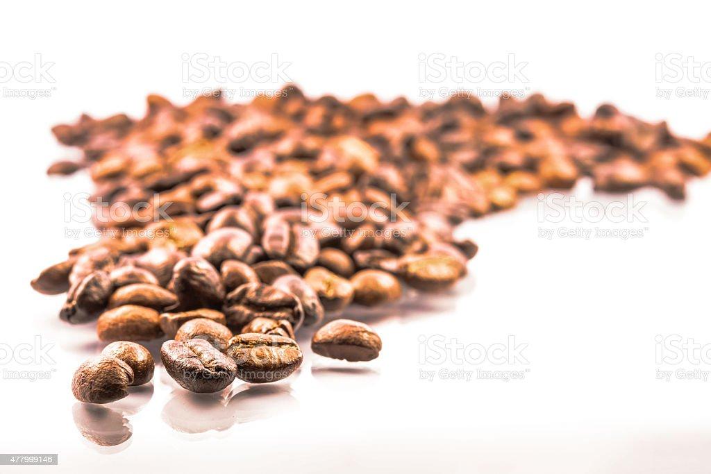 Kaffeebohnen Hintergrund Lizenzfreies stock-foto