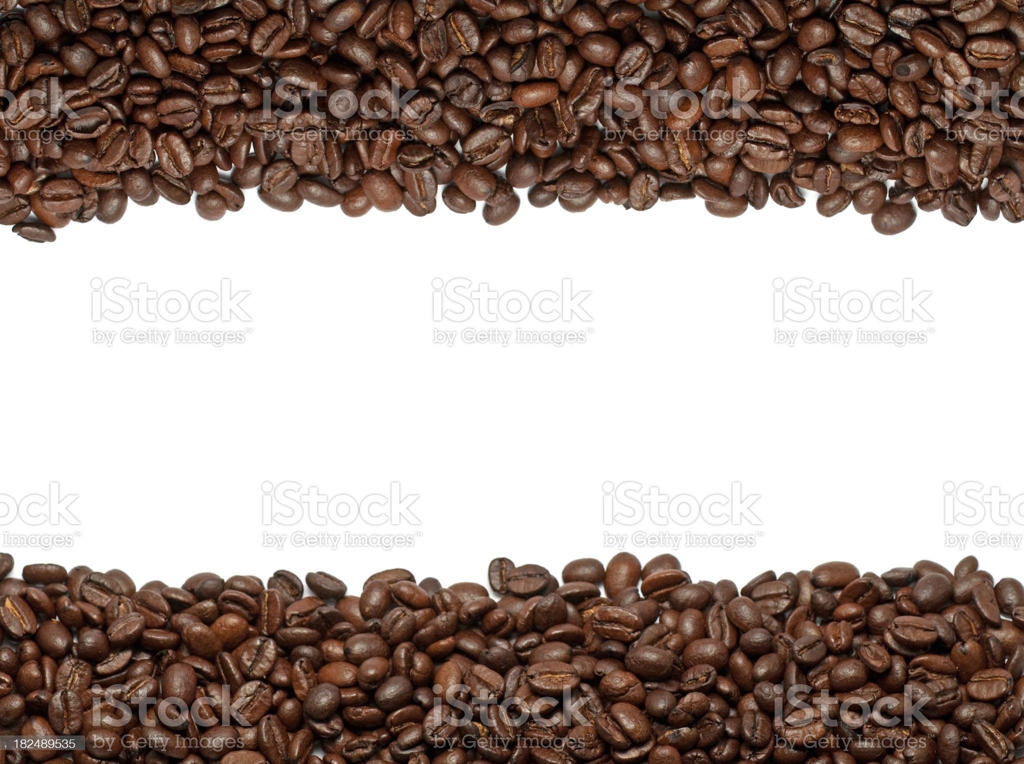 Coffee beans border. royalty-free stock photo
