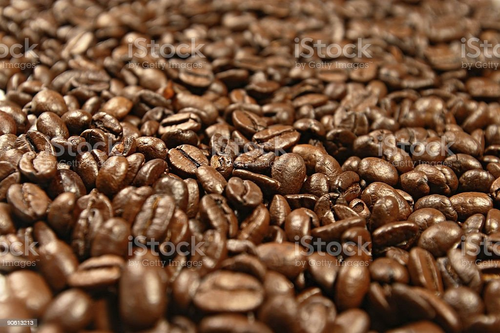 Coffee beans brown blend background stock photo