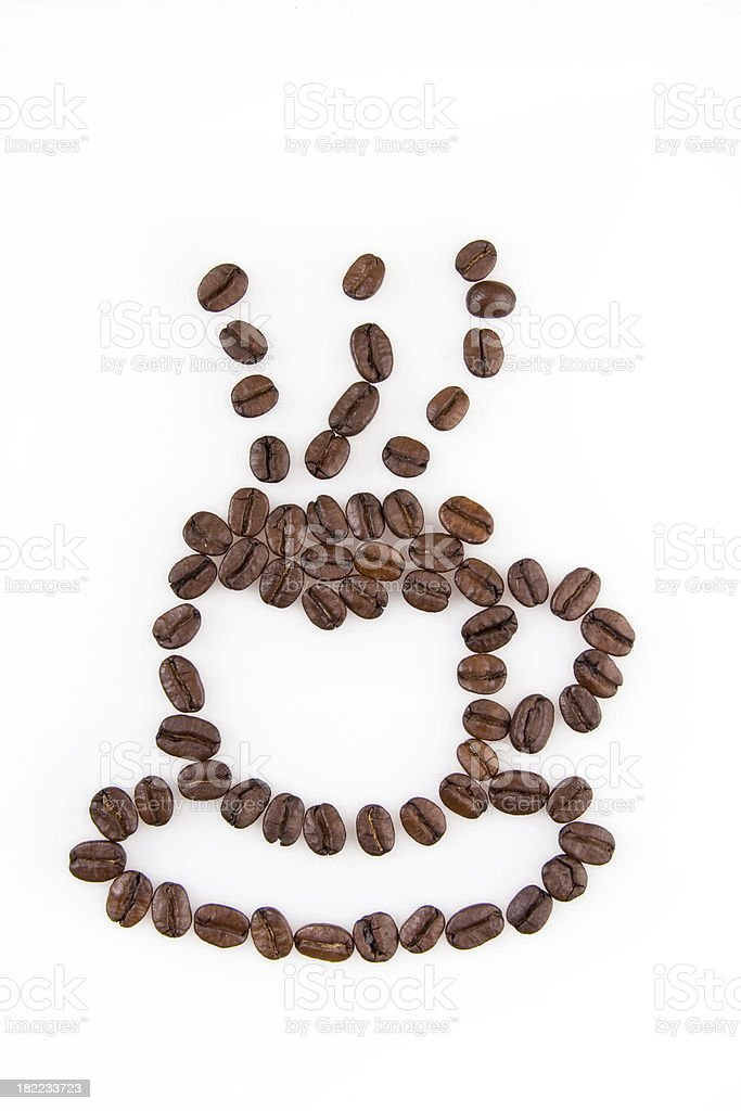 Coffee beans cafe symbol royalty-free stock photo