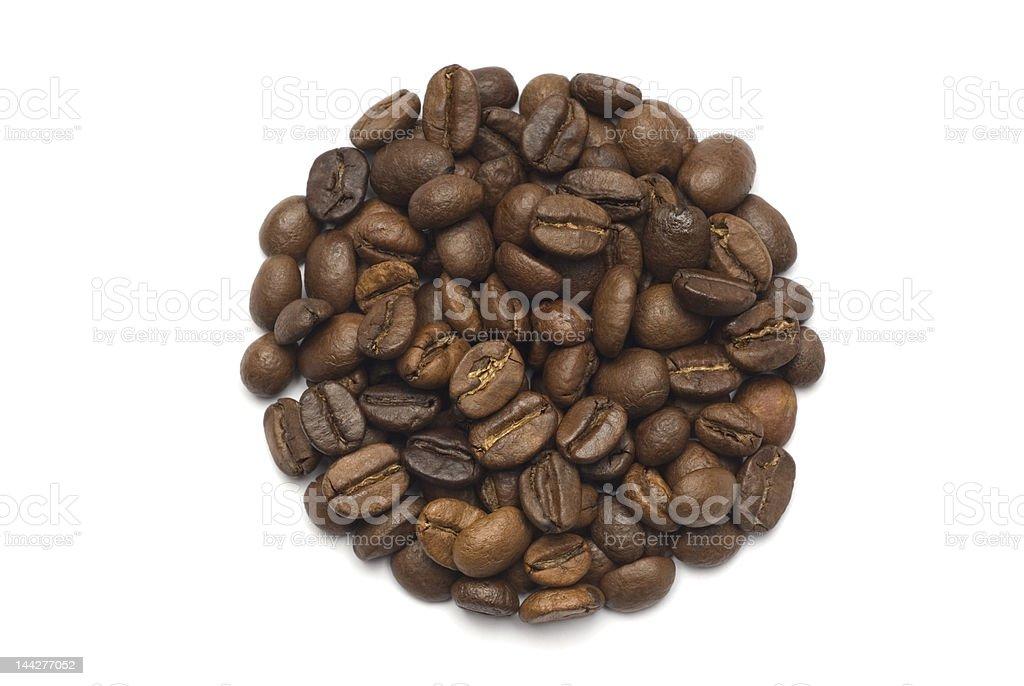 Coffee Beans Circle Shape royalty-free stock photo