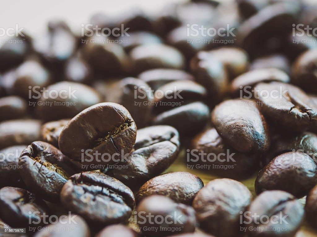 Coffee beans closeup background stock photo