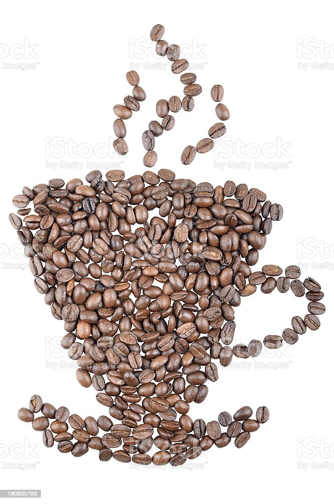 coffee beans cup royalty-free stock photo