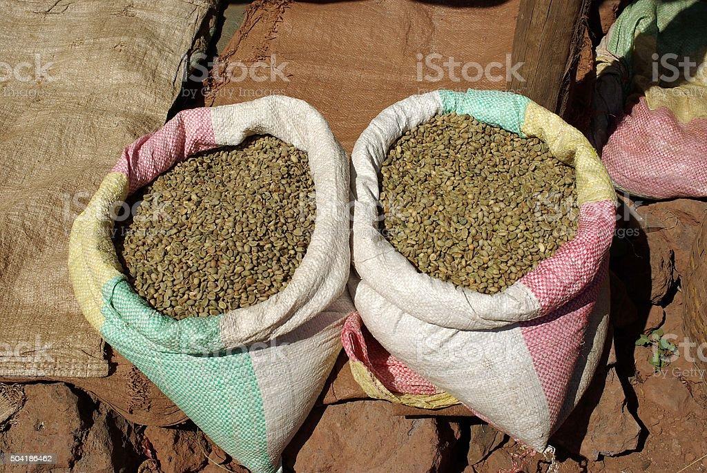 Coffee beans, Ethiopia stock photo