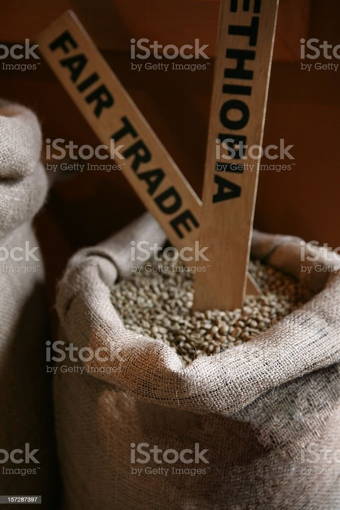 Coffee Beans Fair Trade royalty-free stock photo