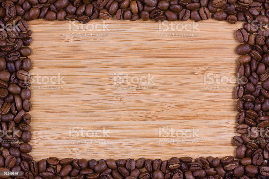 coffee beans frame stock photo