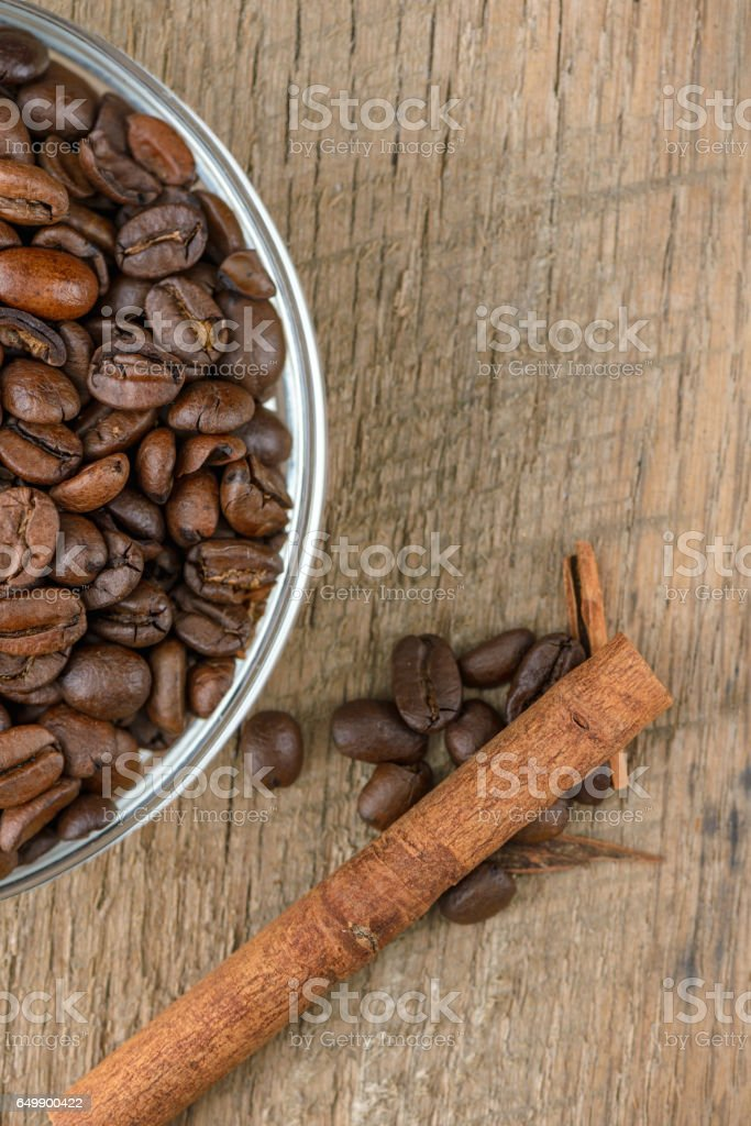 Coffee Beans in a Dish stock photo