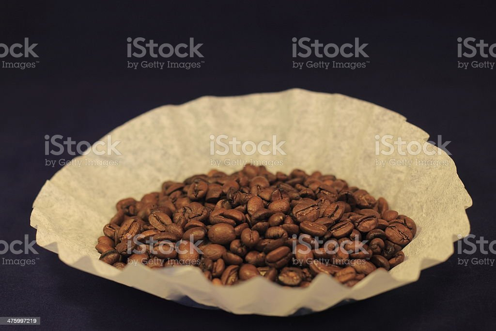 Coffee Beans in a filter stock photo