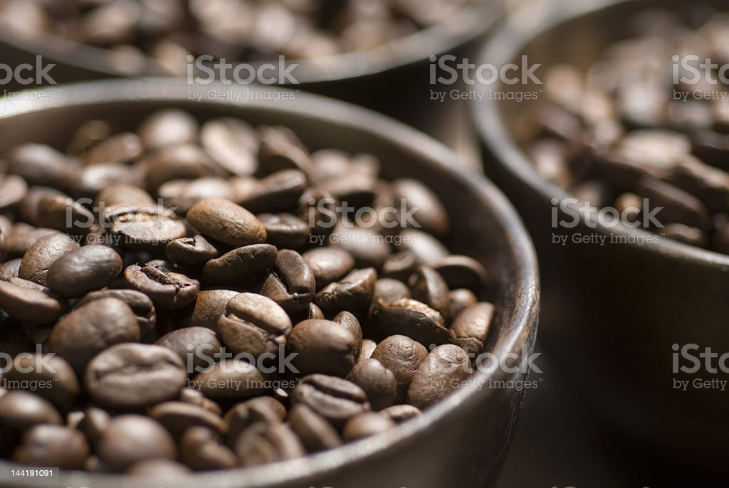 Coffee Beans in bowl Series royalty-free stock photo
