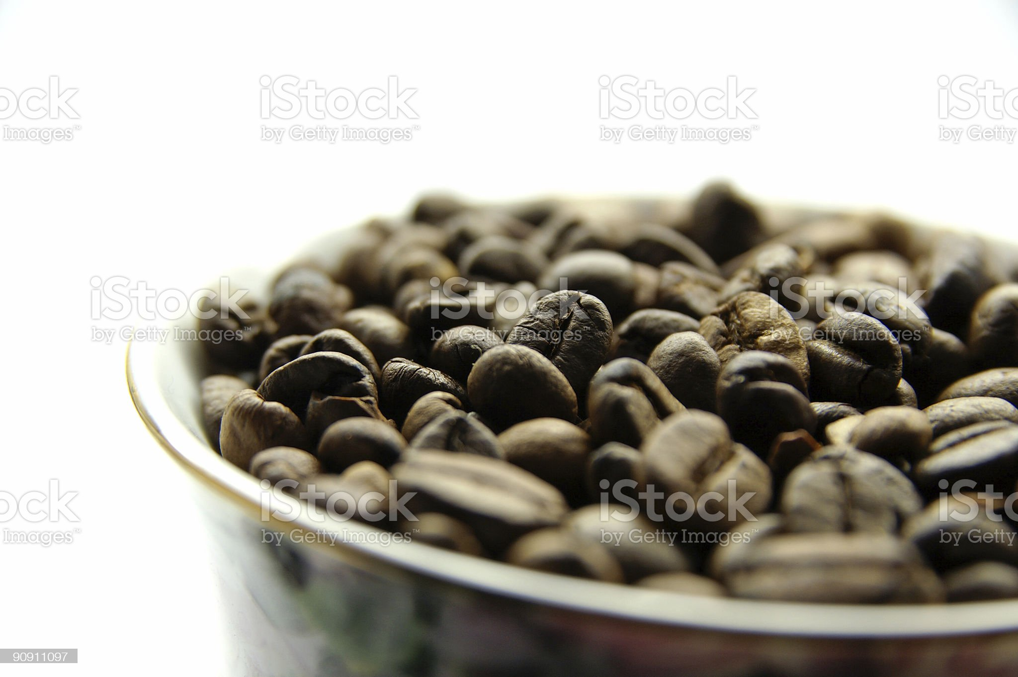 Coffee beans in cup royalty-free stock photo