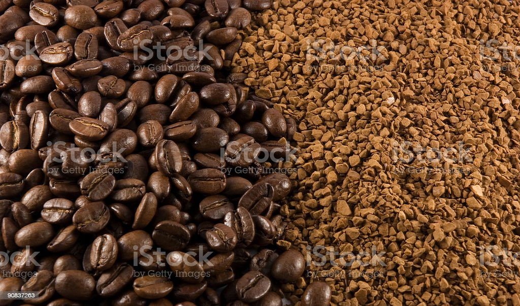 Coffee Beans & Instant royalty-free stock photo