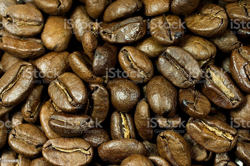 coffee beans macro royalty-free stock photo