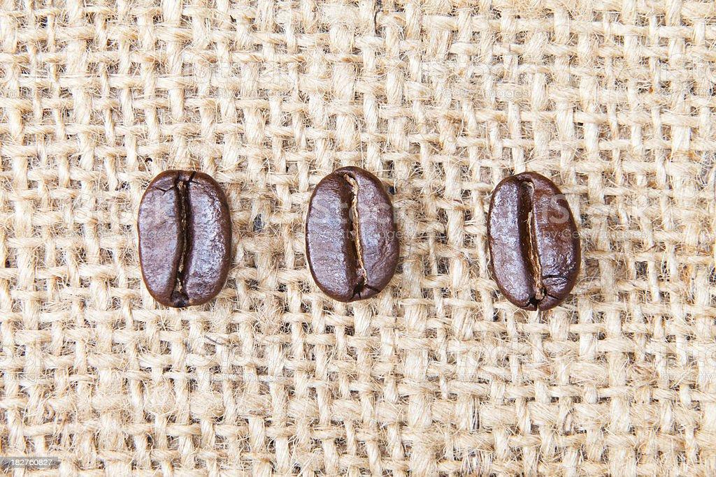 Coffee Beans on Burlap XXXL royalty-free stock photo