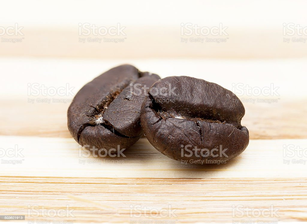 Coffee Beans on rural wooden background royalty-free stock photo