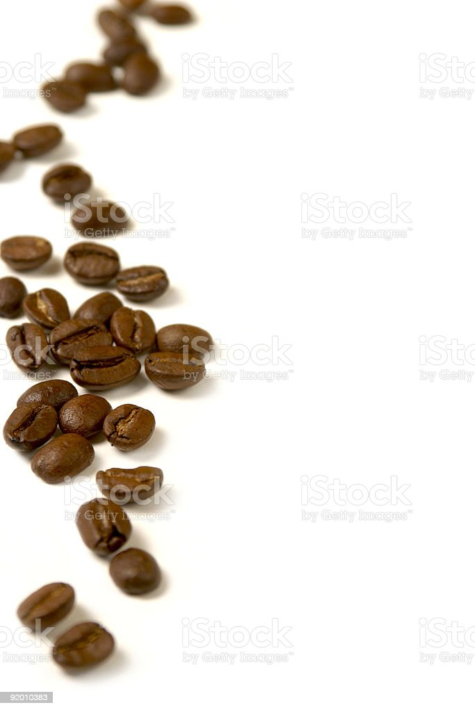 coffee beans on the side royalty-free stock photo