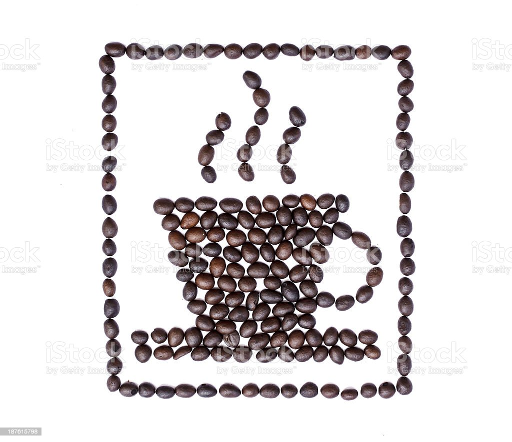 Coffee beans on white background royalty-free stock photo