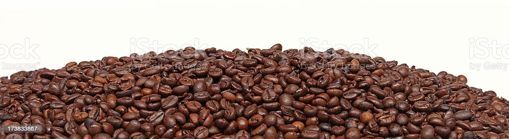 coffee beans panorama royalty-free stock photo