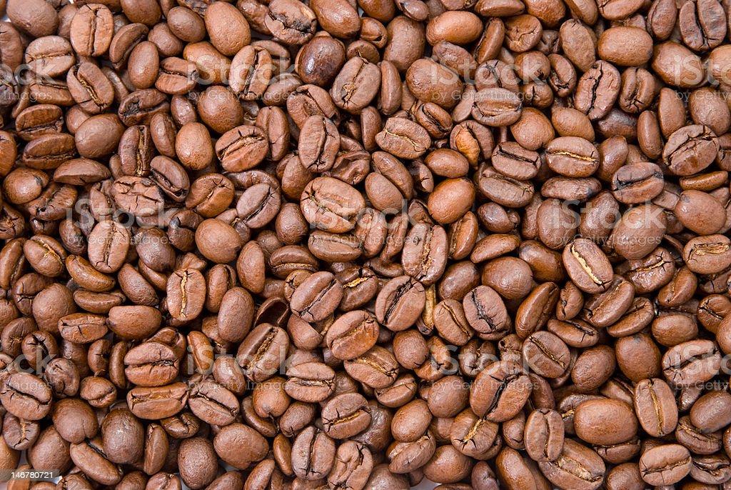 Grãos de café foto royalty-free