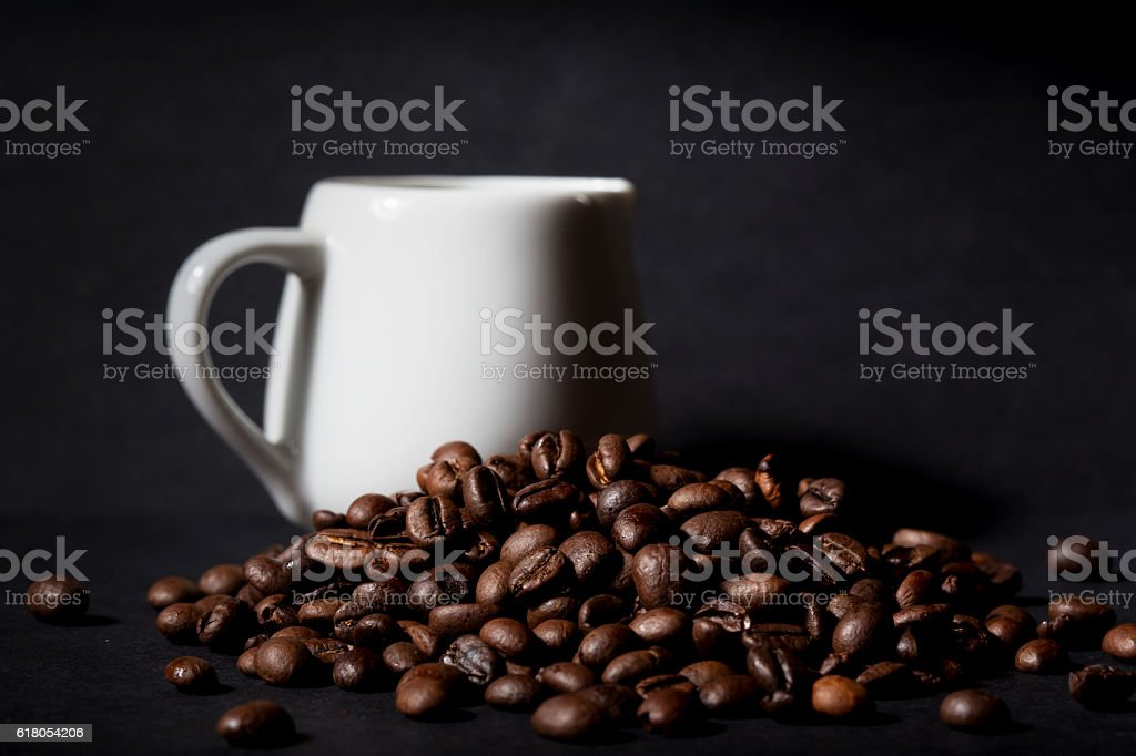 Coffee beans pile stock photo
