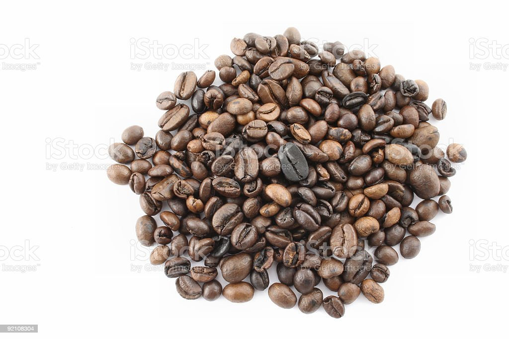coffee beans pile royalty-free stock photo