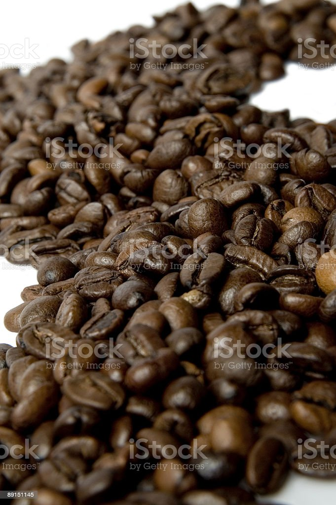 Coffee Beans Road stock photo